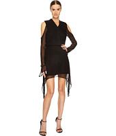 LAMARQUE - Amarina Cold Shoulder Long Sleeve Silk Dress