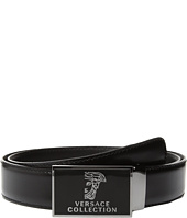 Versace Collection - Logo Plaque Buckle Belt