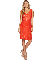 Adrianna Papell - V-Neck Fit and Flare Lace Dress