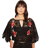 ROMEO & JULIET COUTURE - Embroidered Rose Lace All Over Top