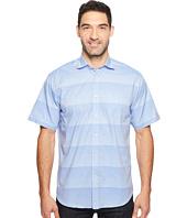 Thomas Dean & Co. - Short Sleeve Horizontal Stripe Sport Shirt