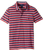 Polo Ralph Lauren Kids - Yarn-Dyed Slub Jersey Short Sleeve Cut Top (Little Kids/Big Kids)