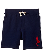 Polo Ralph Lauren Kids - Atlantic Terry Big Pony Polo Shorts (Little Kids/Big Kids)