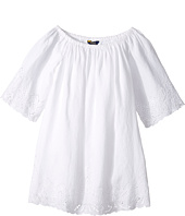 Polo Ralph Lauren Kids - Cotton Lace Hem Dress (Big Kids)