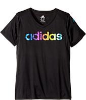 adidas Kids - V-Neck Tee (Big Kids)