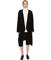 Y's by Yohji Yamamoto - Big Long CD B Drape Front Lamb Wool Cardigan