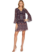 Vince Camuto - Printed Chiffon Shift w/ Bell Sleeves