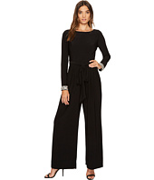 Vince Camuto - Long Sleeve Jumpsuit w/ Beaded Cuffs