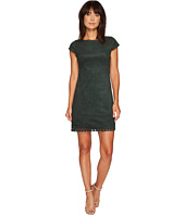 Vince Camuto - Suede Cap Sleeve A-Line Dress w/ Laser Cut