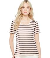 Ivanka Trump - Stripe Knit Short Sleeve Tee