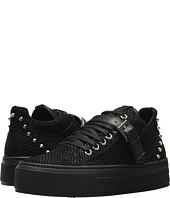 The Kooples - Reptile-Effect Leather Platform Trainers