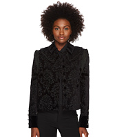 The Kooples - Veste Bi Matiere, Detail Velours, Franges Et Bouton Metal