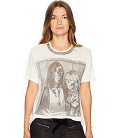 The Kooples - T-Shirt with Embroidery and Silk Printing on the Front Centre
