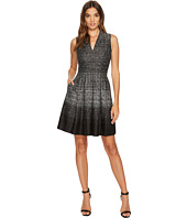 Vince Camuto - Knit V-Neck Fit & Flare Dress