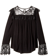 Ella Moss Girl - Jacey Long Sleeve Knit Top with Lace (Big Kids)
