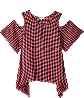Splendid Littles - Yarn-Dyed Plaid Cold Shoulder Top (Big Kids)