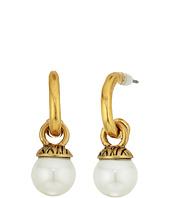 The Sak - 8mm Pearl Hoop Drop Earrings