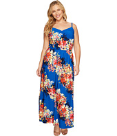 London Times - Plus Size Bloom Stripe Maxi