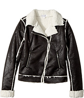 Splendid Littles - Coated Sherpa Bomber Jacket (Big Kids)