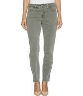 NYDJ Petite - Petite Ami Skinny Ankle Jeans w/ Fray Side Slit in Fatigue