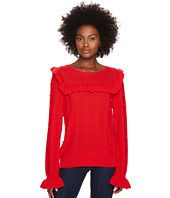 Kate Spade New York - Ruffle Yoke Sweater