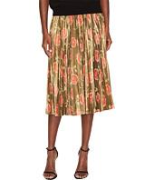 Kate Spade New York - Hazy Rose Pleated Lame Skirt