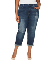 NYDJ Plus Size - Plus Size Boyfriend Jeans with Laser Shadow Patch and Embroidery in Horizon