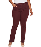 NYDJ Plus Size - Plus Size Marilyn Straight in Luxury Touch Denim in Deep Currant