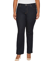 NYDJ Plus Size - Plus Size Marilyn Straight Jeans in Larchmont Wash