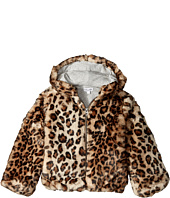 Splendid Littles - Leopard Faux Fur Hooded Jacket (Little Kids)