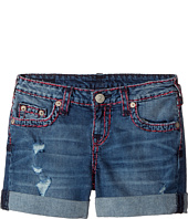 True Religion Kids - Audrey Super T Boyfriend Shorts in Used Wash (Big Kids)