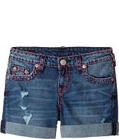 True Religion Kids - Audrey Super T Boyfriend Shorts in Used Wash (Big Kids)
