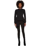 Sonia Rykiel - Runway Fancy Stitched Hi Lo Sweater