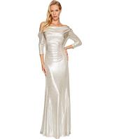 Tahari by ASL - Metallic Draped Gown