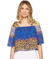 Nicole Miller - La Plage by Nicole Miller Cleo Bow Tie Beach Top