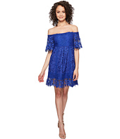 Nicole Miller - Zahra Crochet Lace Off the Shoulder Dress