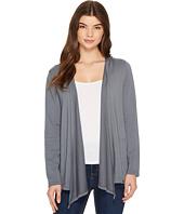 Mod-o-doc - Cotton Modal Fleece Button Hem Hooded Cardigan