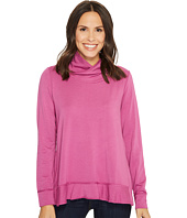 Mod-o-doc - Cotton Modal Spandex French Terry Crossover Funnel Neck Long Sleeve Pullover