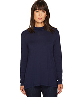 Mod-o-doc - Slub Jersey Long Sleeve Turtleneck Tee with Back Slit