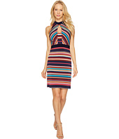 Laundry by Shelli Segal - Printed Stripe Sheath Dress