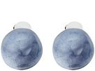 Watery Sphere Button Clip Earrings