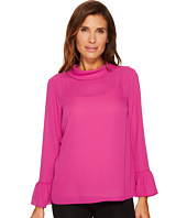 Ellen Tracy - Mock Tie Back Neck Blouse