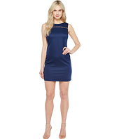 Ellen Tracy - Solid Pique Dress with Hardware Detail