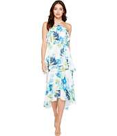CeCe - Whisper Blooms Tiered Ruffle Maxi Dress