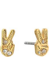 Rebecca Minkoff - Peace Sign Stud Earrings