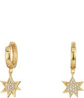 Rebecca Minkoff - Huggie Hoop Earrings with Pow Charm