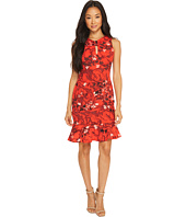 Taylor - Floral Printed Crepe Scuba with Flounce Bottom