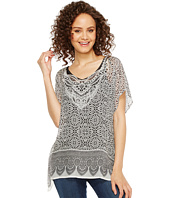 Dylan by True Grit - Tahla Top Rayon Print with Border