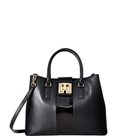 Tommy Hilfiger - TH Twist Smooth Leather Convertible Shopper