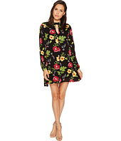 ROMEO & JULIET COUTURE - Floral Print Dress with Keyhole